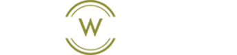 Circle W Landscape logo with white text on a transparent background